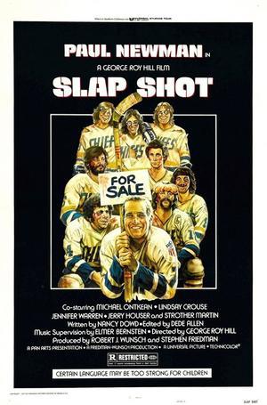"""Poster art for """"Slap Shot."""""""