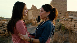 "Willa Holland as Davey and Amy Jo Johnson as Gwen Wexler in ""Tiger Eyes."""