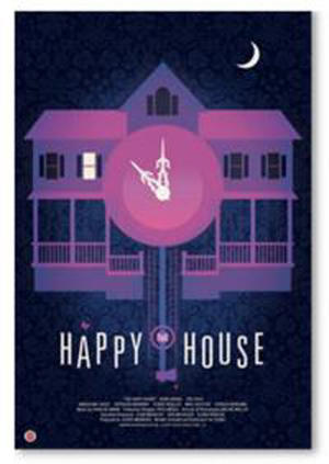 "Poster art for ""The Happy House."""