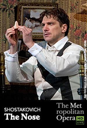 "Poster art for ""The Metropolitan Opera: The Nose."""