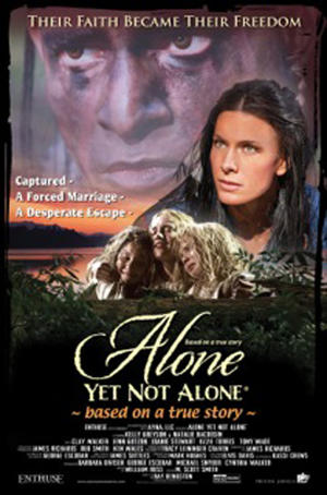 "Poster art for ""Alone Yet Not Alone."""