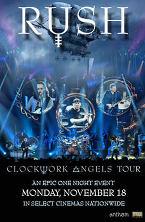 "Poster art for ""RUSH Clockwork Angels Tour."""