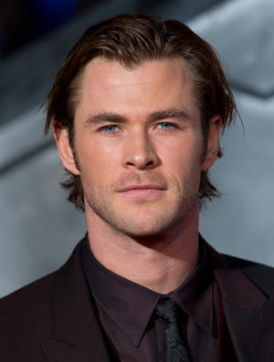 "Chris Hemsworth at the London premiere of ""Thor: The Dark World."""
