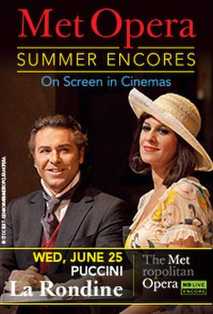 "Poster art for ""Met Summer Encore - La Rondine."""