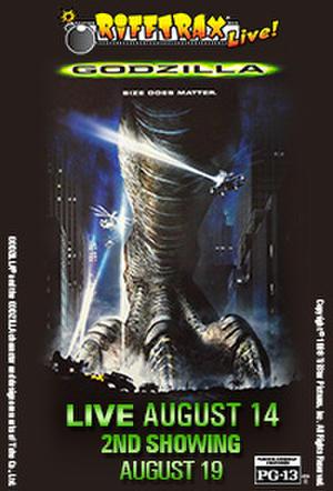 """Poster art for """"RiffTrax: Godzilla."""""""