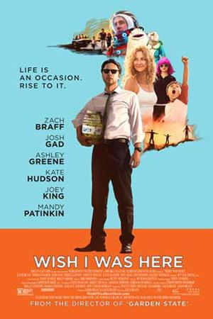 """Poster art for """"Wish I Was Here."""""""