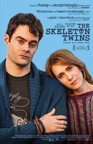 "Poster art for ""The Skeleton Twins."""