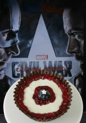Celebrate 'Captain America' with Mini No-Bake Cheesecakes