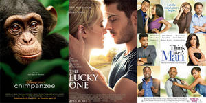 You Rate the New Releases: 'Think Like a Man,' 'The Lucky One' and 'Chimpanzee'