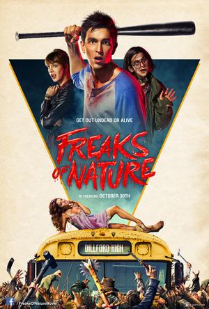 "Poster art for ""Freaks of Nature."""