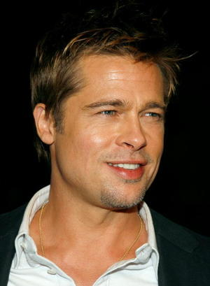 """""""Babel"""" star Brad Pitt at the Westwood premiere."""