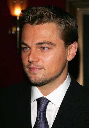 """""""The Departed"""" star Leonardo DiCaprio at the N.Y. premiere."""