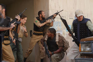 "Jennifer Garner, Ali Suliman, Jamie Foxx and Chris Cooper in ""The Kingdom."""