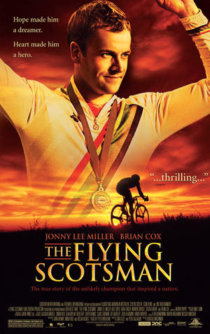 "Poster art for ""The Flying Scotsman."""