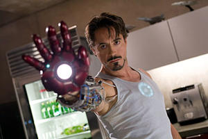 "Robert Downey Jr. in ""Iron Man."""