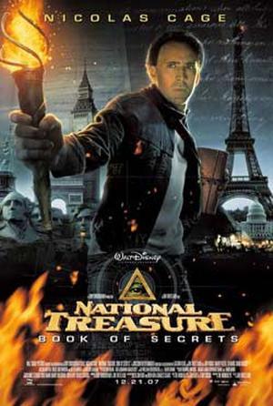 "Poster art for ""National Treasure: Book of Secrets."""