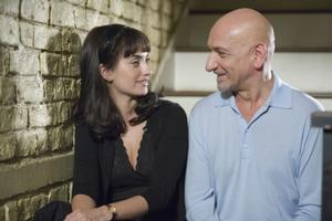 "Penelope Cruz as Consuela Castillo and Ben Kingsley as David Kepesh in ""Elegy."""