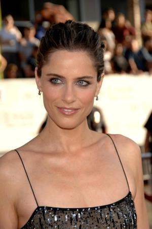 "Amanda Peet at the world premiere of ""The X Files: I Want To Believe."""