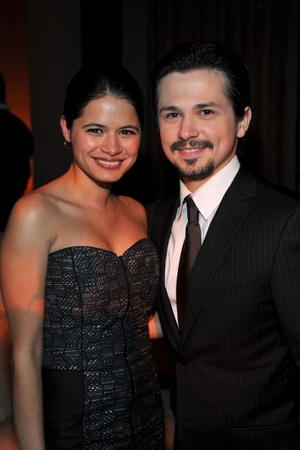 """Melonie Diaz and Freddy Rodriguez at the after party of the California premiere of """"Nothing Like The Holidays."""""""