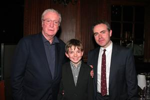 "Michael Caine, Bill Milner and director John Crowley at the after party of the New York premiere of ""Is Anybody There?"""