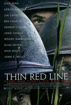 """Poster art for """"The Thin Red Line."""""""