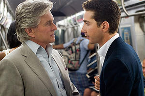 "Michael Douglas and Shia LaBeouf in ""Wall Street: Money Never Sleeps."""