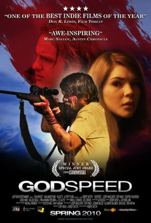 "Poster art for ""Godspeed."""