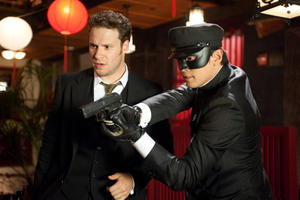 "Seth Rogen and Jay Chou in ""The Green Hornet."""