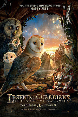 "Poster art for ""Legend of the Guardians: The Owls of Ga'Hoole 3D"""