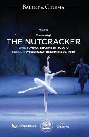 """Poster art for """"Bolshoi Ballet's The Nutcracker."""""""