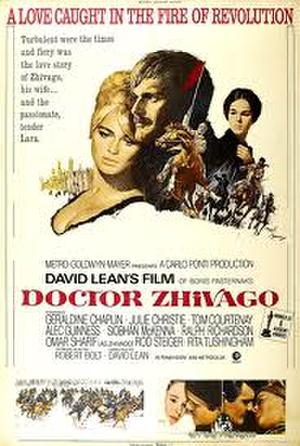 "Poster art for ""Doctor Zhivago."""
