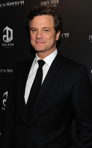 "Colin Firth at the New York premiere of ""The King's Speech."""