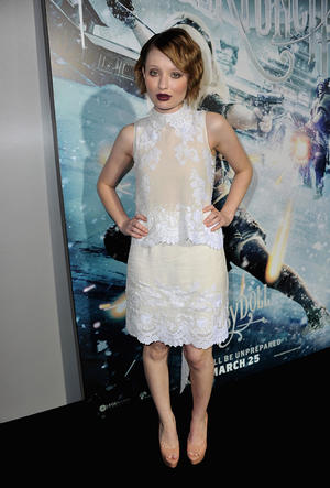 "Emily Browning at the California premiere of ""Sucker Punch."""