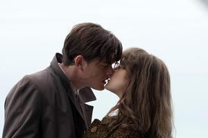 "Sam Riley as Pinkie and Andrea Riseborough as Rose in ""Brighton Rock."""