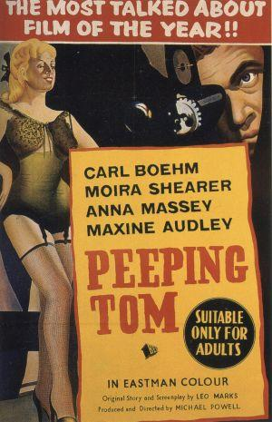 """Poster art for """"Peeping Tom."""""""