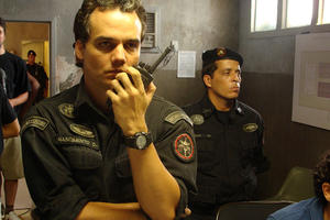 "Wagner Moura as Captain Nascimento in ""Elite Squad: The Enemy Within."""