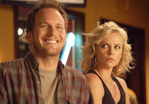 "Patrick Wilson and Charlize Theron in ""Young Adult."""