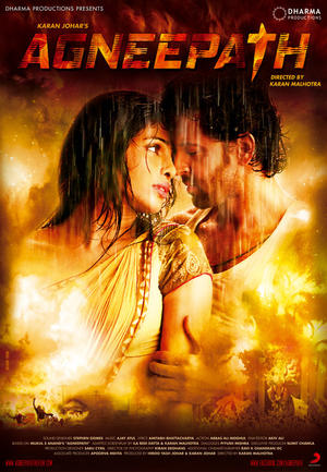 "Poster art for ""Agneepath."""
