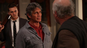 "Steve Talley as Matt Harper, Eric Roberts as Ronnie Bullock and David Dwyer as Everett Hall in ""Deadline."""