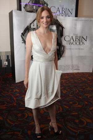 """Kristen Connolly at the LA premiere of """"The Cabin in the Woods."""""""