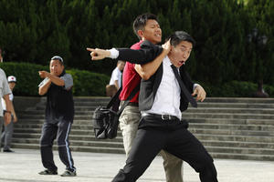 """Jaycee Chan and Xia Yu in """"Double Trouble."""""""