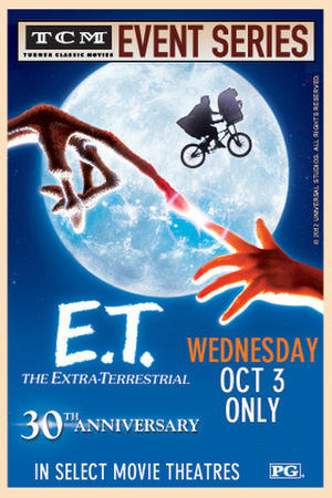"Poster art for ""E.T. The Extra-Terrestrial 30th Anniversary Event."""