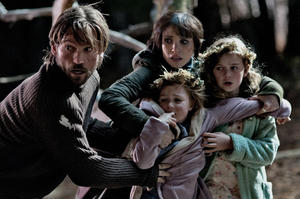 "Nikolaj Coster-Waldau, Jessica Chastain, Megan Charpentier and Isabelle Nelisse in ""Mama."""