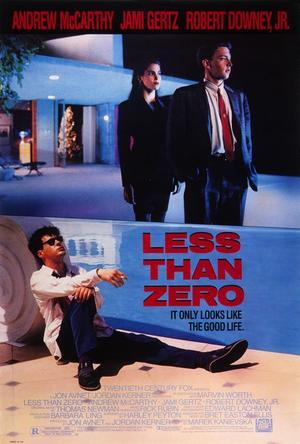 "Poster art for ""Less Than Zero."""