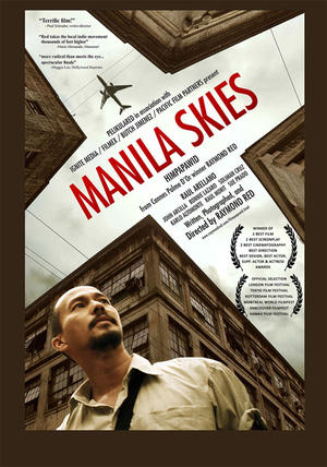 "Poster art for ""Manila Skies."""