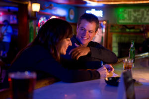 "Rosemarie DeWitt as Alice and Matt Damon as Steve Butler in ""Promised Land."""