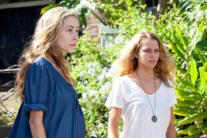 "Felicity Price as Alice and Teresa Palmer as Steph in ""Wish You Were Here."""