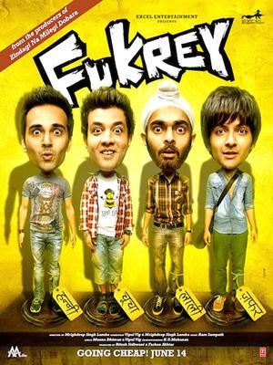 """Poster art for """"Fukrey."""""""