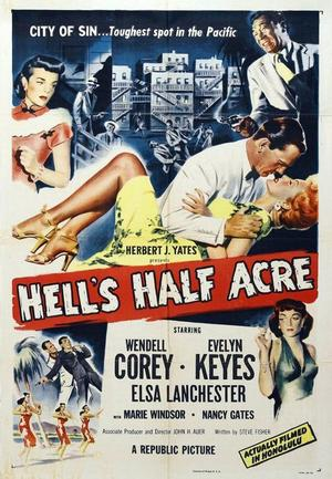 """Poster art for """"Hell's Half Acre."""""""