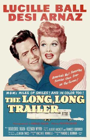"""Poster art for """"The Long, Long Trailer."""""""